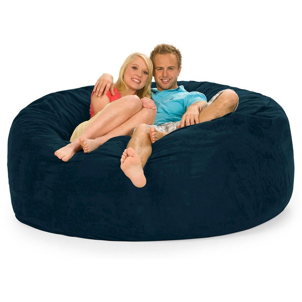 Fabulous Huge Memory Foam Bean Bag 6 Ft Navy Blue Relax Sacks Onthecornerstone Fun Painted Chair Ideas Images Onthecornerstoneorg