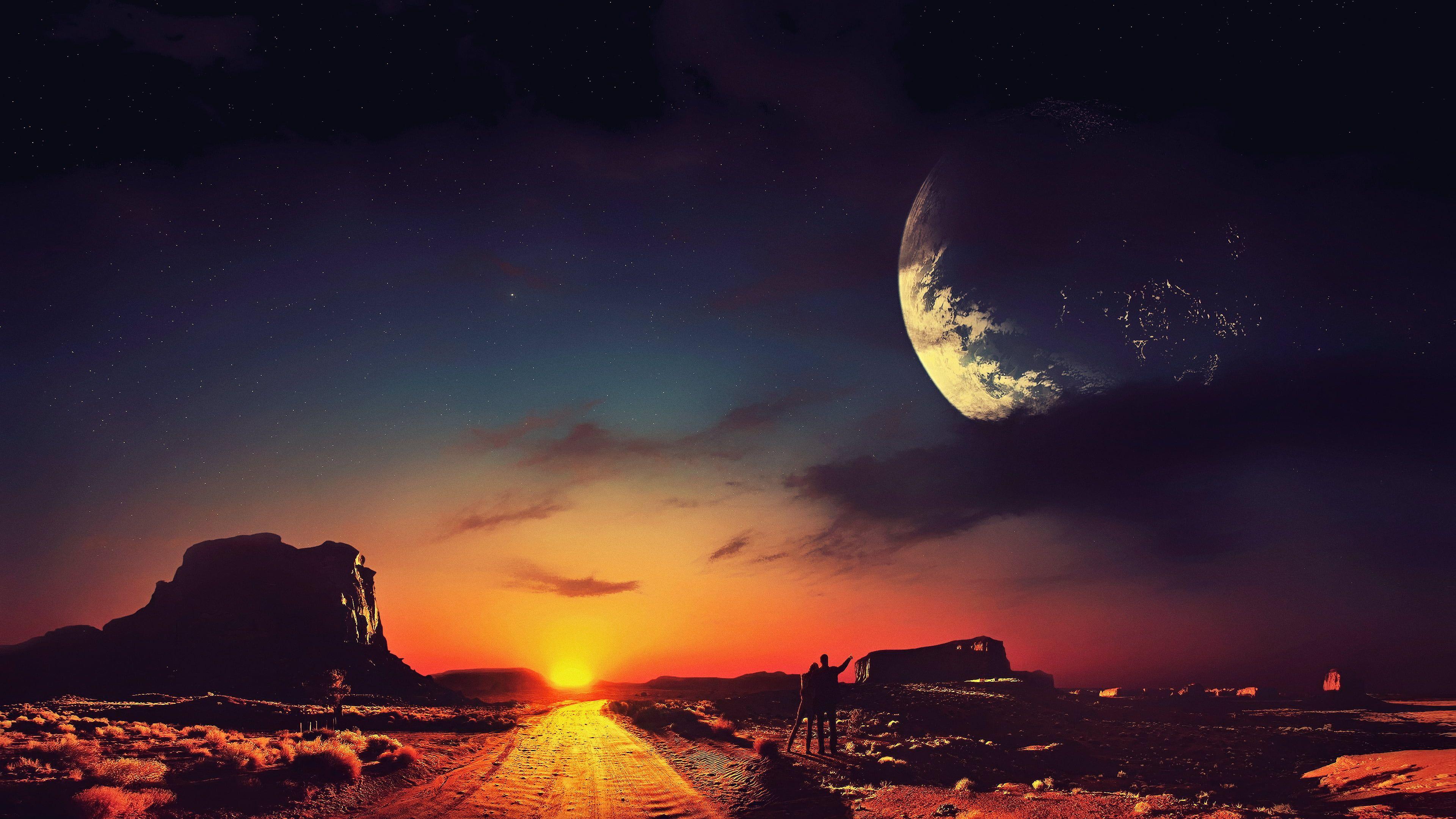 Science Fiction Concept Art Stars Landscape Space Digital Art Dark Fantasy Art Artwork 4k Wallpaper Hdwallpaper Desktop V 2020 G