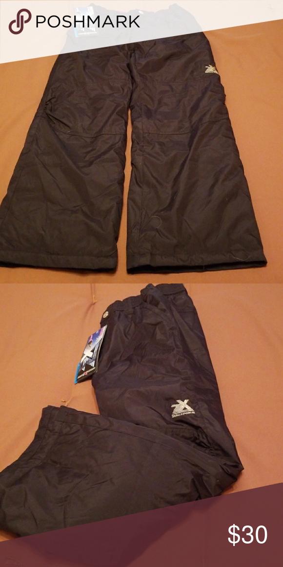 853531ebd Girls Black Snow Ski Pants 10 12 Girls NWT Sport Essentials Snow Ski ...