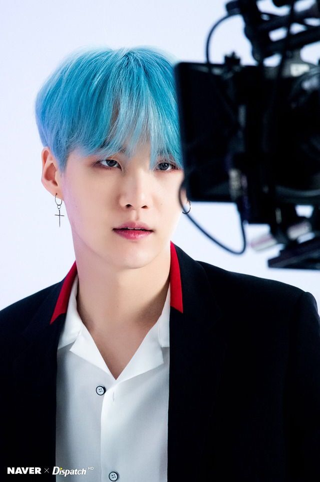 Suga BTS His Blue Hair Is Perfection