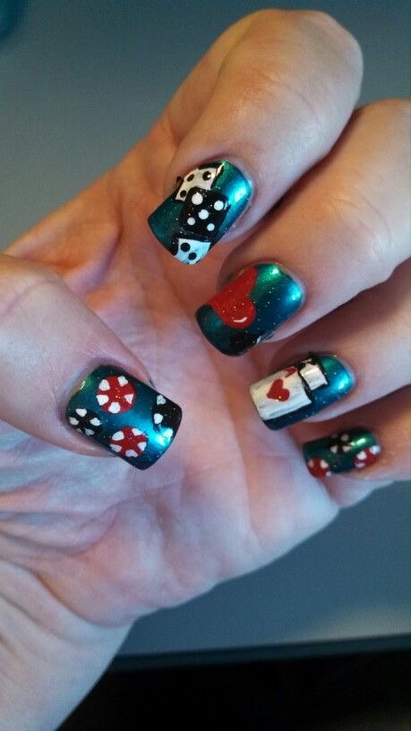 Vegas nail art... Mom likes these | Nail Art | Pinterest | Vegas ...