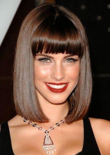 resultado de imagen para peinados con flequillo corto