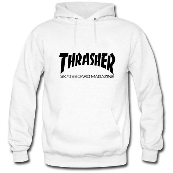 7e7556f7bd3e Tomoin Men s Thrasher Skateboard Hoodies Long Sleeve O Neck Hoody (£13) ❤  liked on Polyvore featuring men s fashion