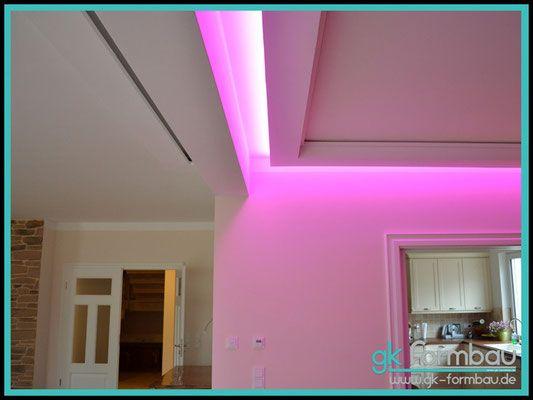 lichtvoute mit schattenfuge / rgb farbwechsel   indirekte,