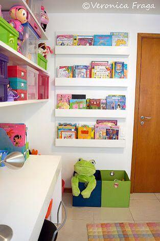 Porta Livrinhos Quarto Infantil Brinquedotecas E Painel De Fotos