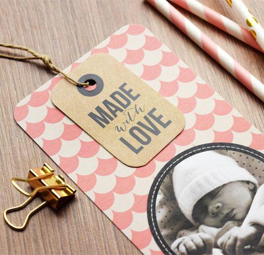 Faire-part de naissance Made with Love par