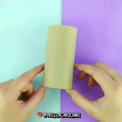 Faça você mesmo um porta lápis com rolo de papel f