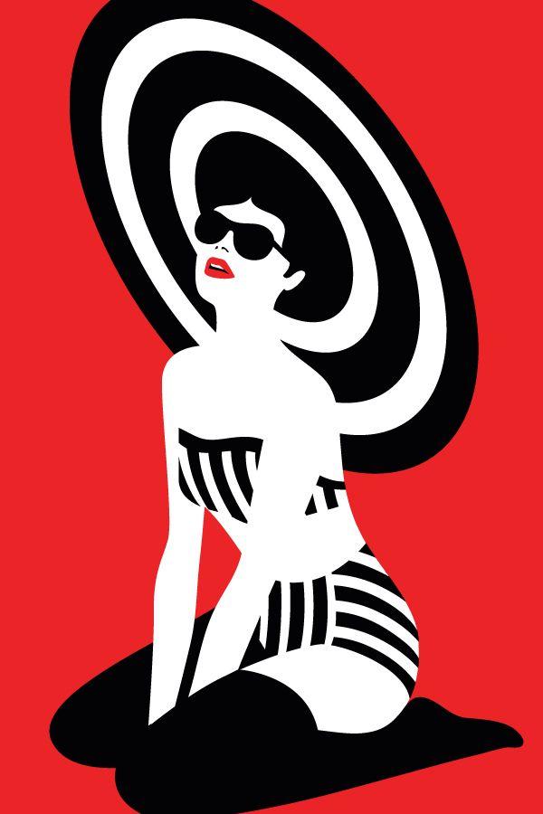 'pin up' by malika favre #illustration