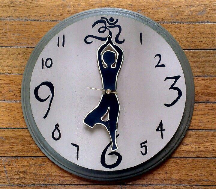 A homemade yoga clock yoga yogaclock homemade
