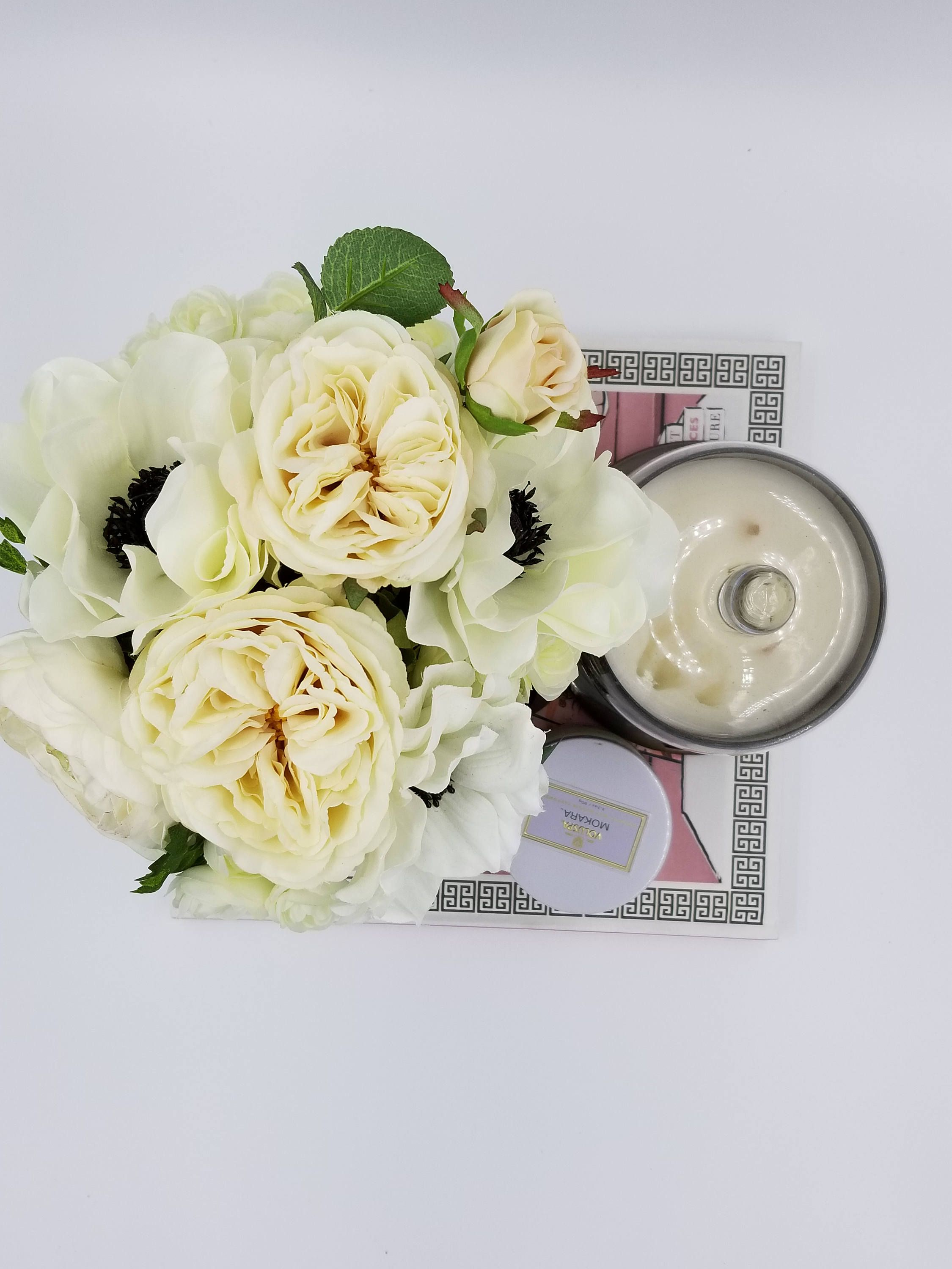 Rose And Anemone Floral Arrangements In Round Flower Box,Floral Home