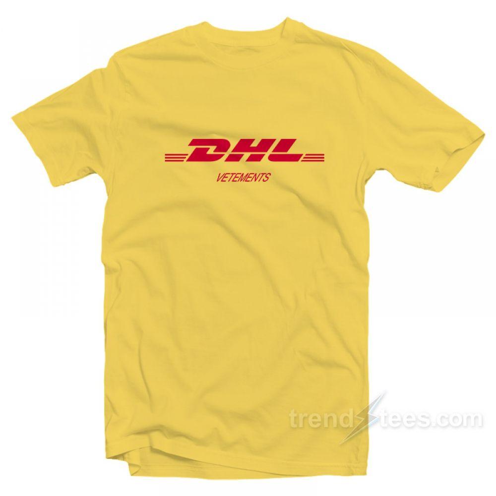 vendita calda online 6881d 52cfb Vetements DHL T-shirt Size S, M, L, XL,2XL,3XL in 2019 | T-shirt ...