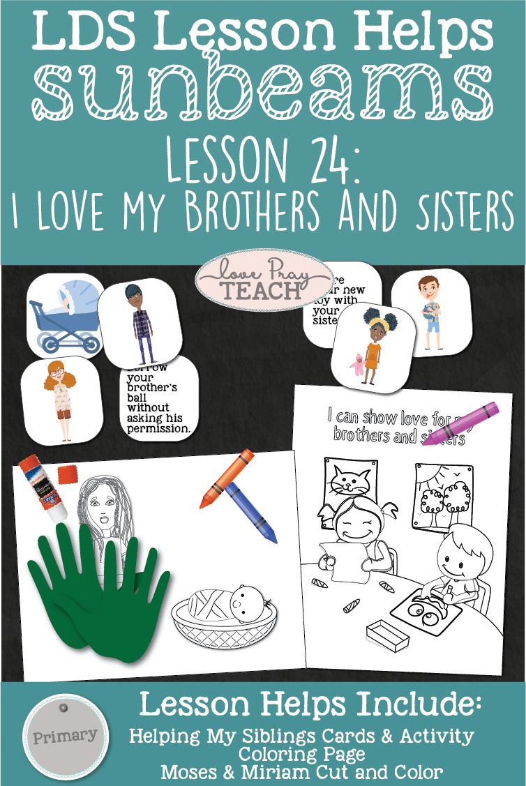 LDS Primary 1 Sunbeams Lesson 24: \