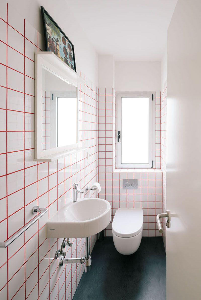 Met Deze Gekleurde Voegen Wordt Elke Tegelwand Een Eye Catcher Badkamer Verbouwen Badkamer Wandtegels Badkamer Modern