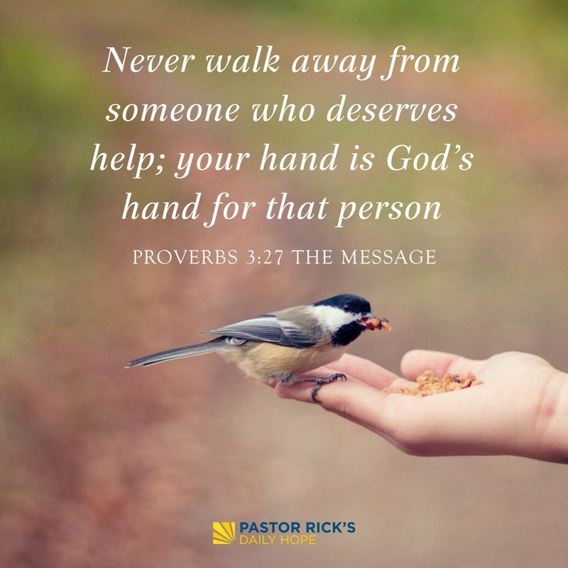 Seize Every Opportunity to Show Kindness - Pastor Rick's Daily Hope