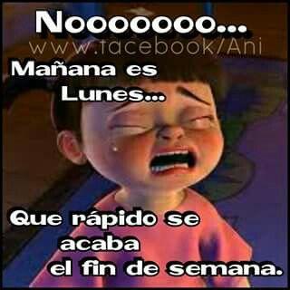 Nooooo lunes
