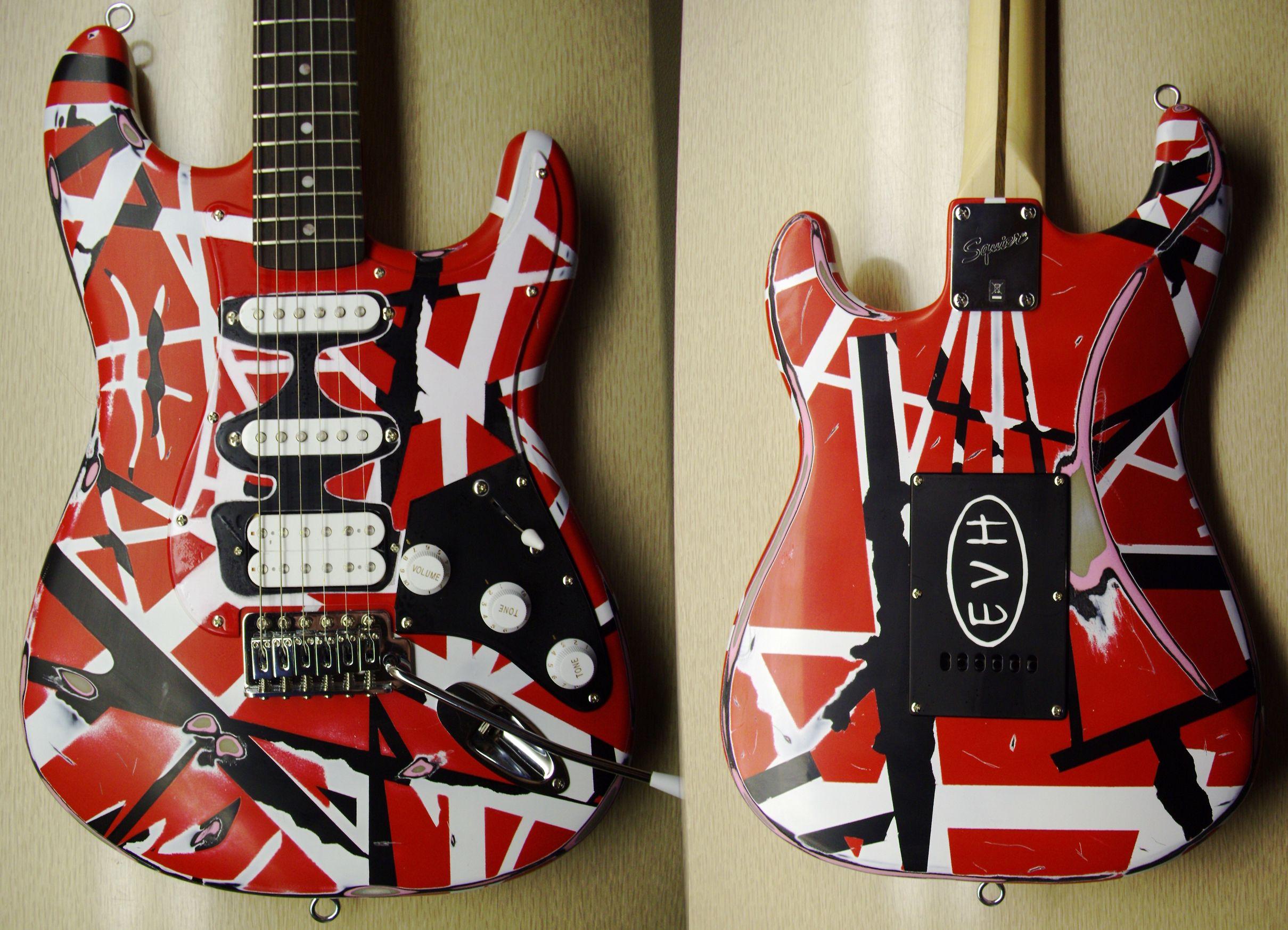 My Van Halen Frankenstein Guitar Redone Van Halen Eddie Van Halen Guitar