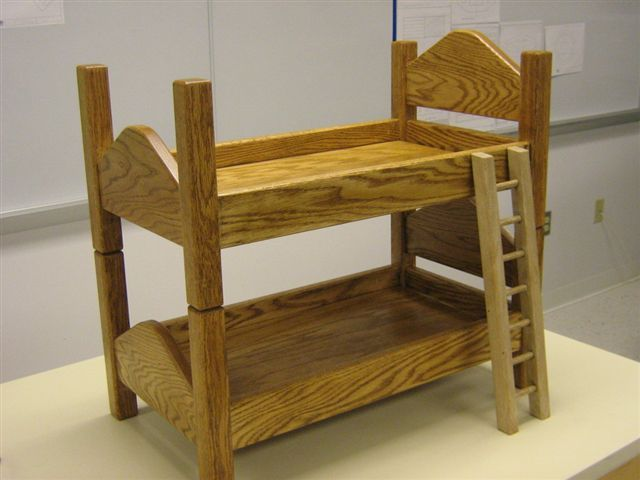 This Step By Step Diy Woodworking Project Is About Bunk Doll Bed