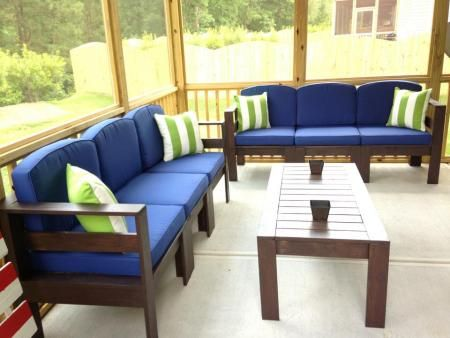 Simple Outdoor Sectional | Do It Yourself Home Projects