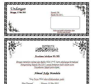 Download Contoh Undangan Aqiqah Dengan Ms Word Terbaru