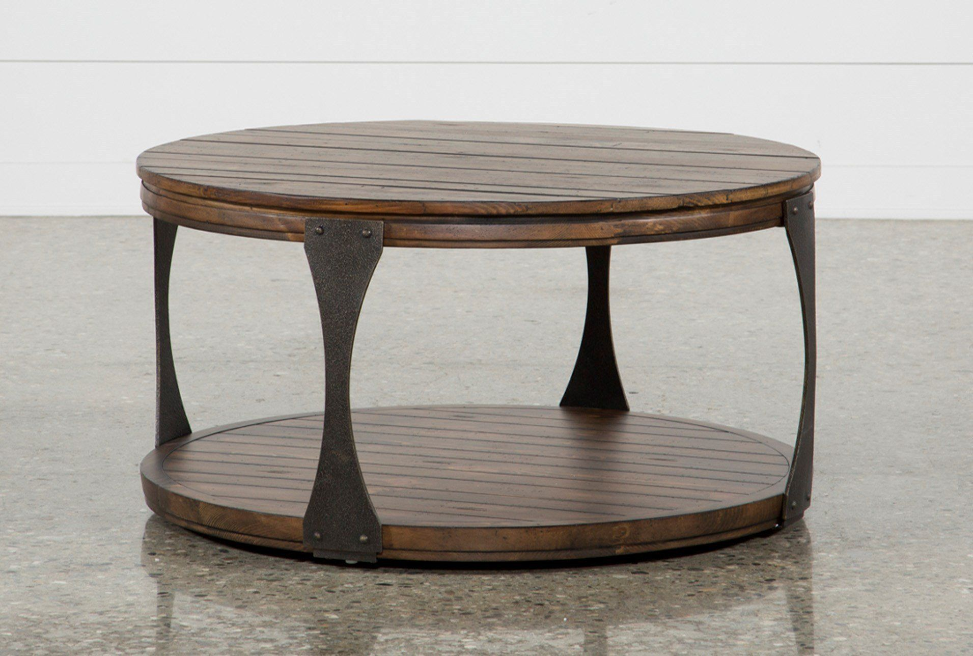 Blanton round coffee table brown 255 coffee table