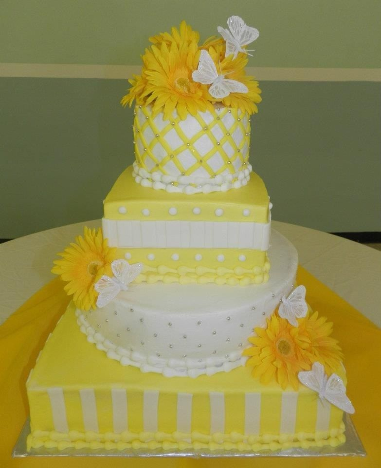 Yellow & Butterflies Cake | My cakes | Pinterest | Butterfly cakes ...