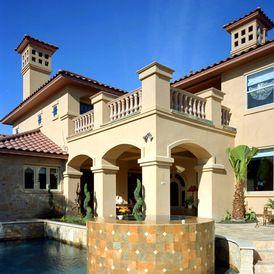 mediterranean pool by Rob Sanders Designer - Custom Home/Remodel Design