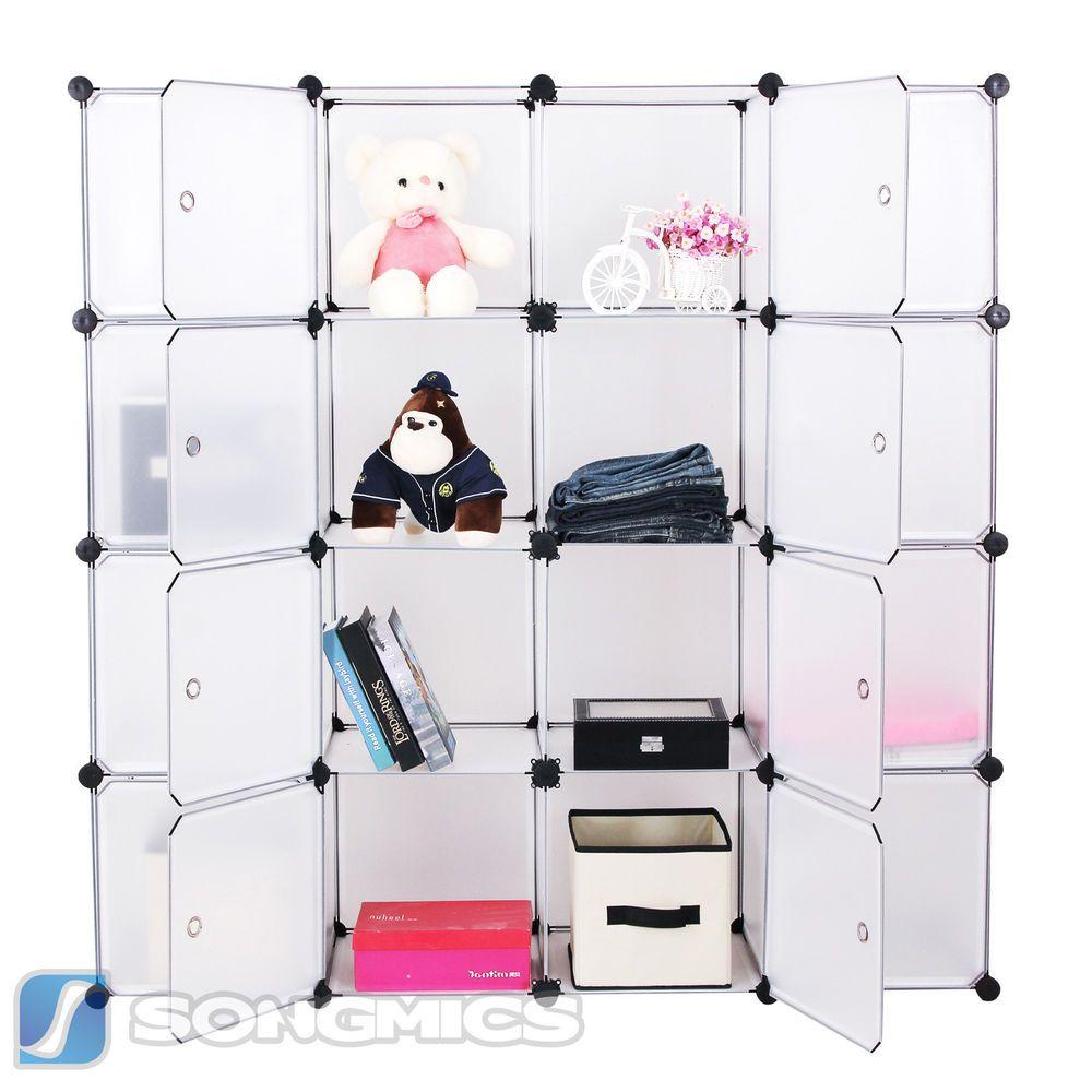 diy kleiderschrank kunststoff garderobe regal steckregal schrank badregal lpc44b diy cube. Black Bedroom Furniture Sets. Home Design Ideas