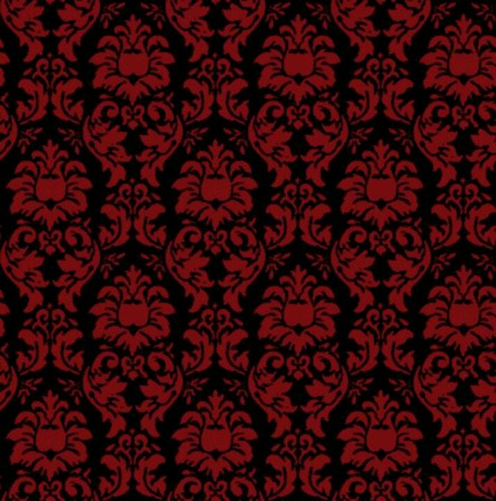 Red and black damask wallpaper - Red And Black Damask Wallpaper There's No Place Like Home