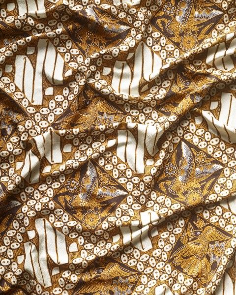 Iwan Tirta Ksatryan Kupu Kawung Batik Pattern Animal Print Rug Printed Rugs