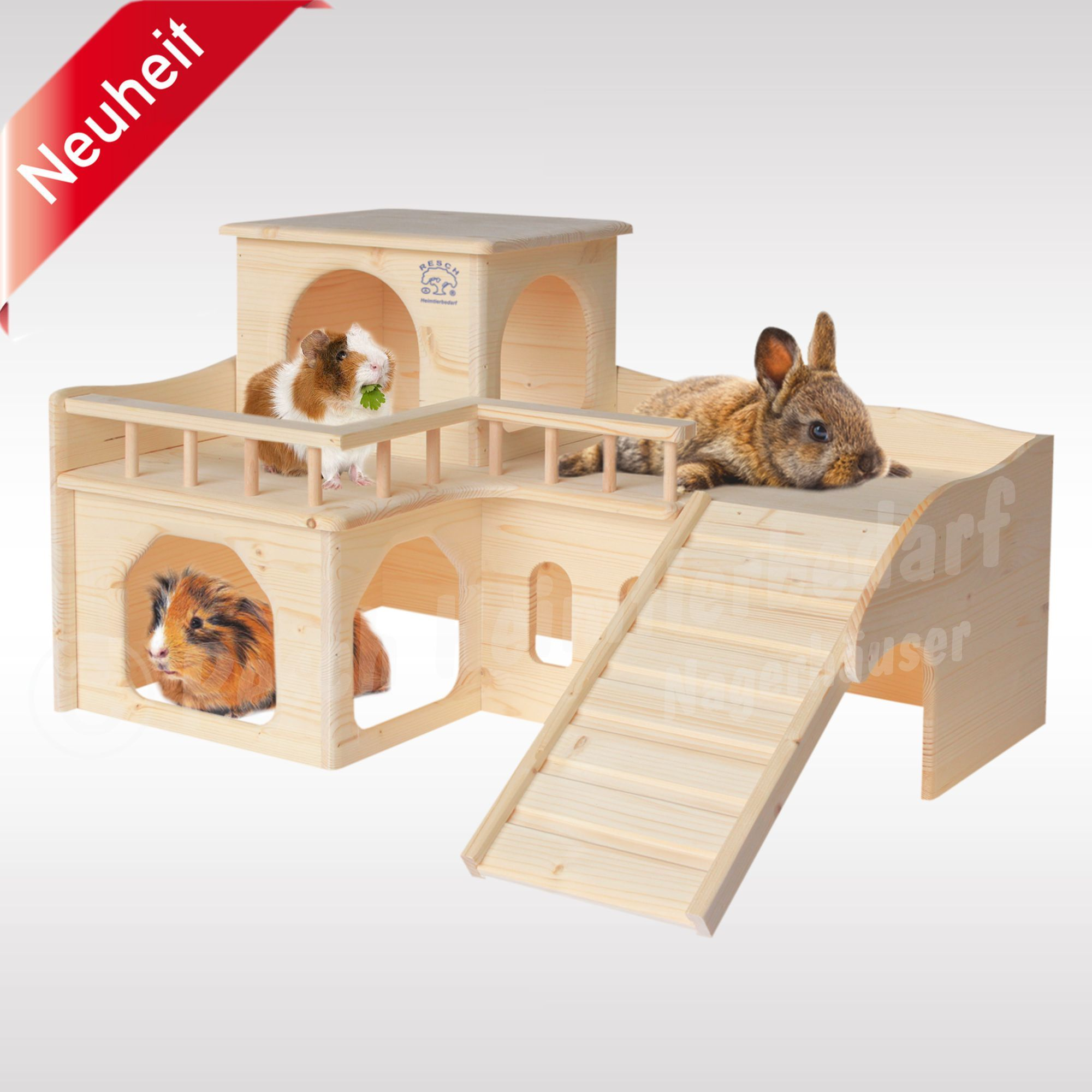 Kaninchenschloss Mit Grosser Terrasse Meerschweinchen Haus Kaninchen Meerschweinchen