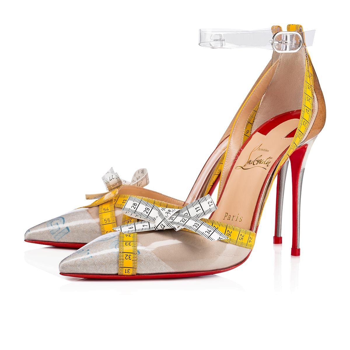 Metripump 100 Vers Transp Yellow Patent PVC - Women Shoes - Christian  Louboutin 5181f79dee