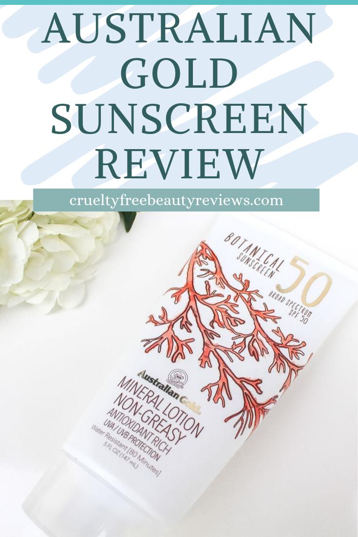 Australian Gold Botanical Sunscreen Review Cruelty free