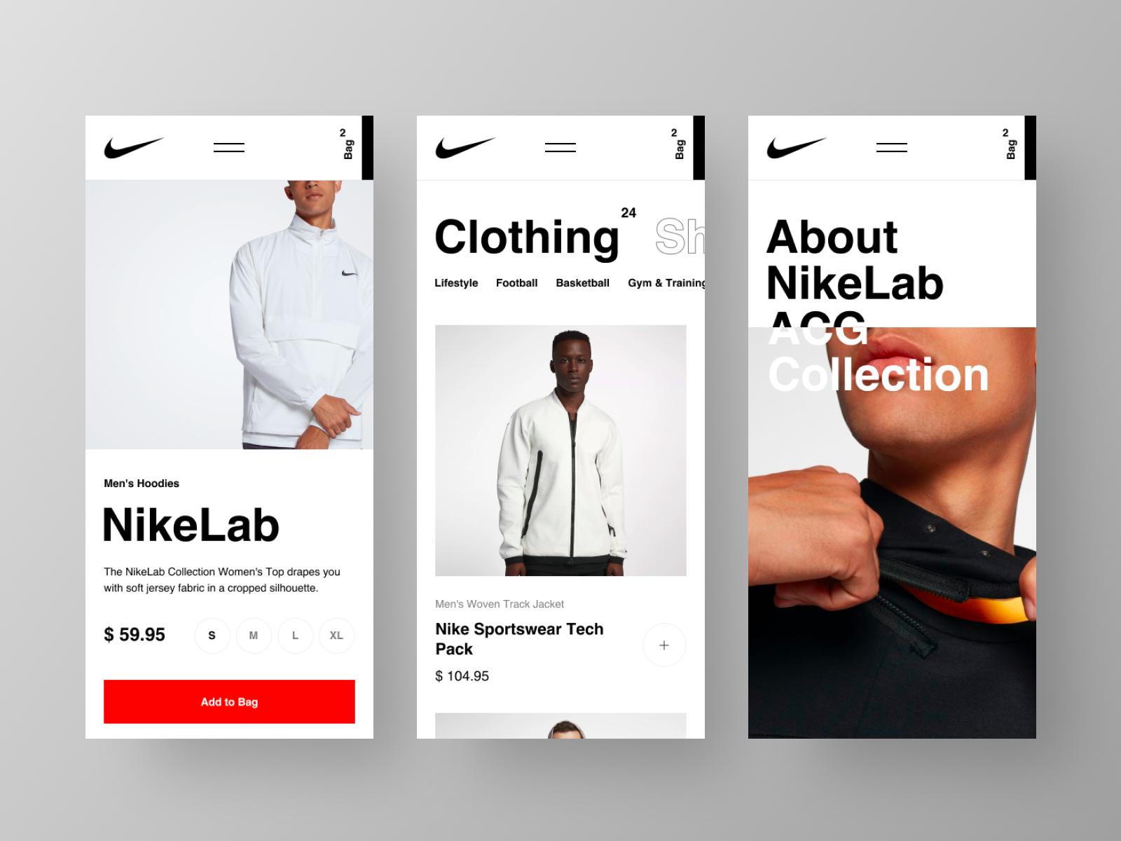 Nike Website Mobile Ux Design Inspiration Mobile Web Design Nike Website