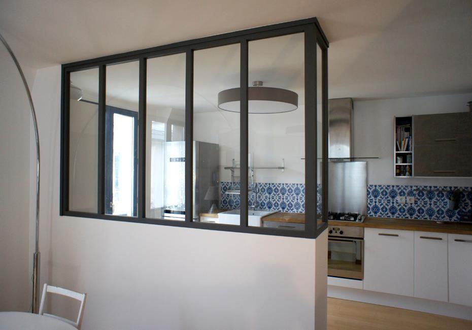 cuisine ouverte cuisine croissy pinterest vitre atelier cuisine verriere et s jour cuisine. Black Bedroom Furniture Sets. Home Design Ideas