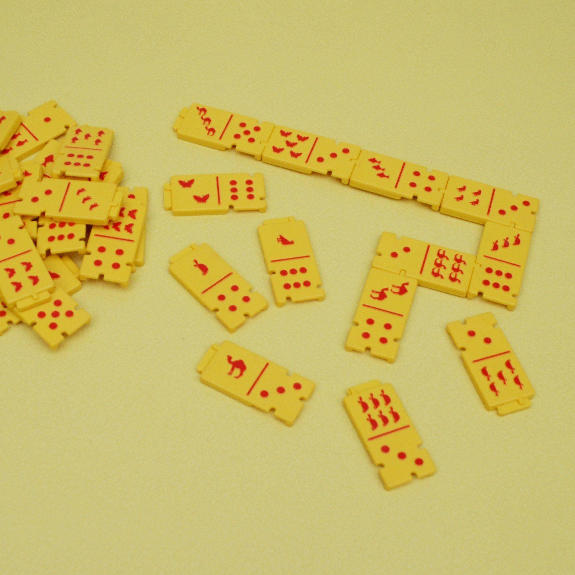 Vintage domino table Board game Dominoes