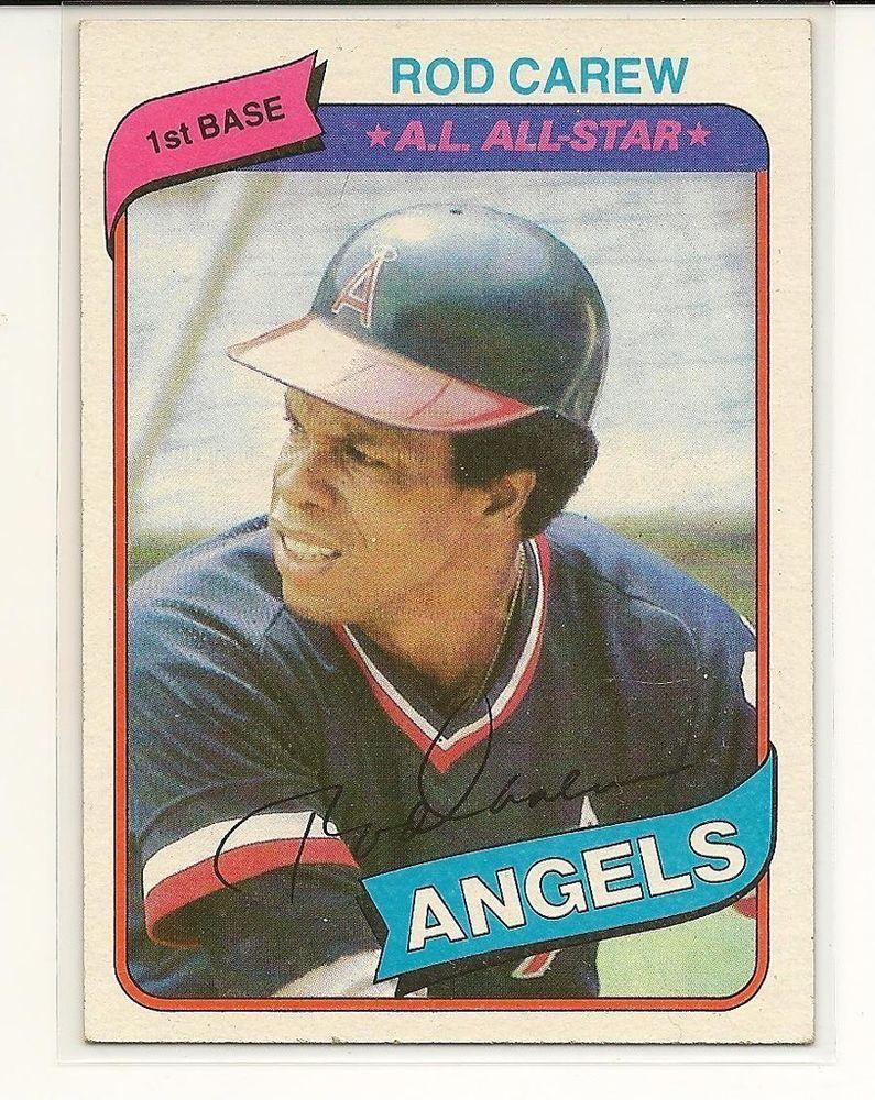 1980 Topps 700 Rod Carew California Angels Baseball