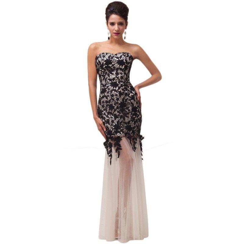 c37c8818d066 Čierne spoločenské šaty CL6043-2