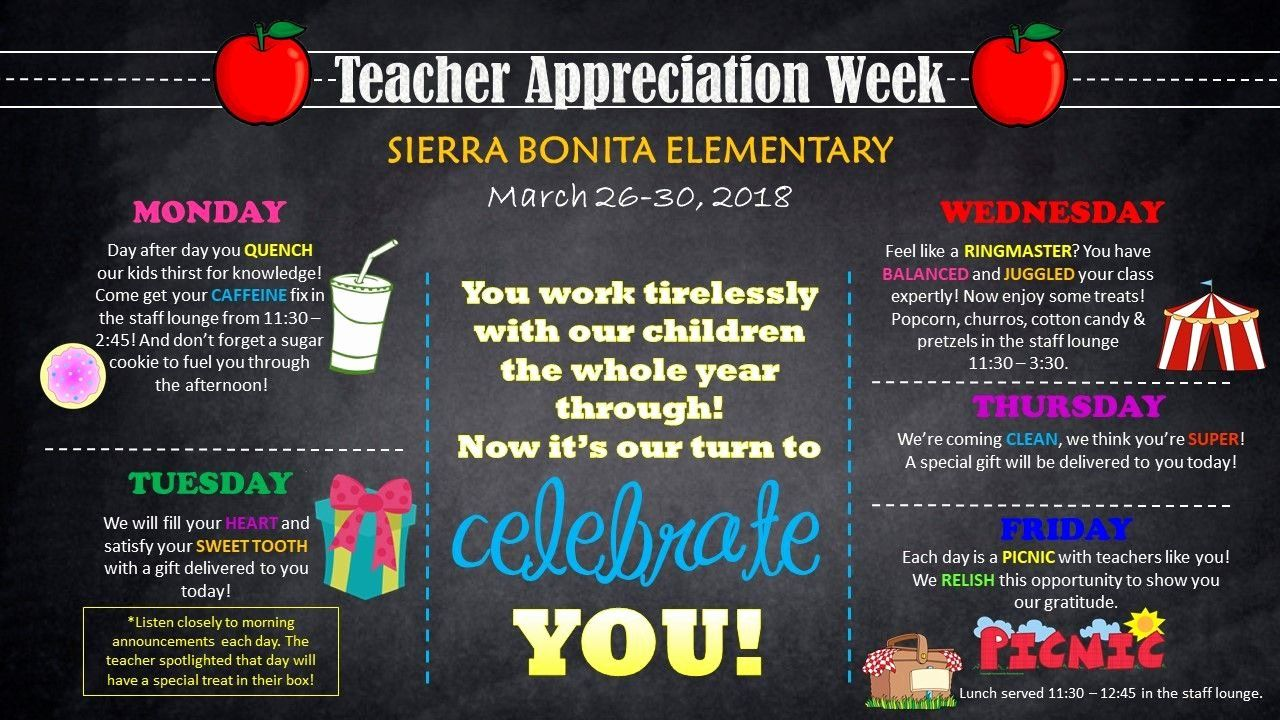 Employee Appreciation Day Flyer Template Unique Teacher Appreciation Wee Teacher Appreciation Week Themes Teacher Appreciation Week Teacher Appreciation Themes
