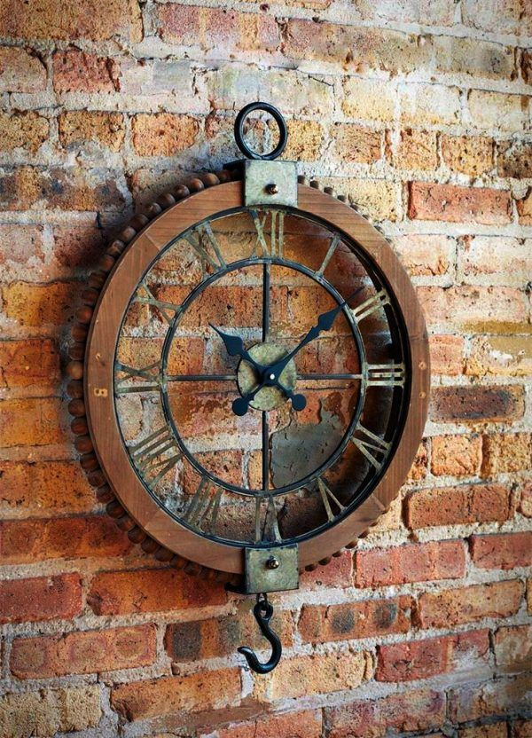 Bathroom Wall Clocks: 50 Industrial Style Furniture & Home Decor Accessories