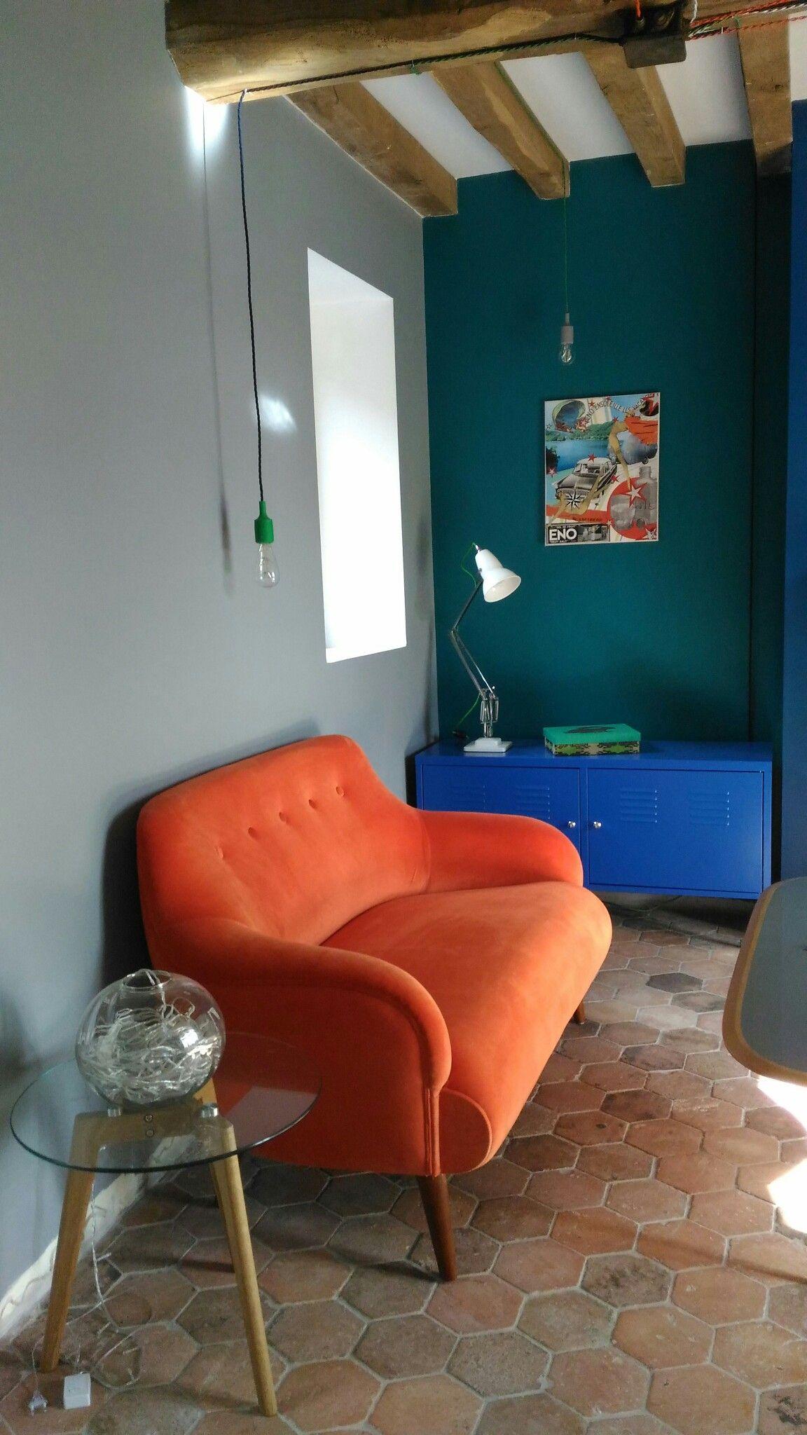 Orange et bleu canard | CHAMBRE en 2019 | Décoration ...