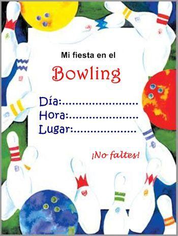 Invitación De Bowling Invitaciones Invitaciones De Fiesta