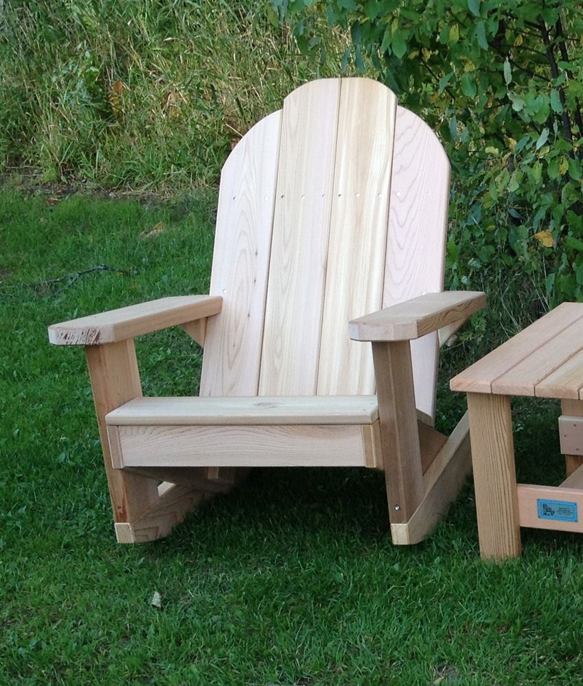 Classic handcrafted red cedar adirondack patio chair