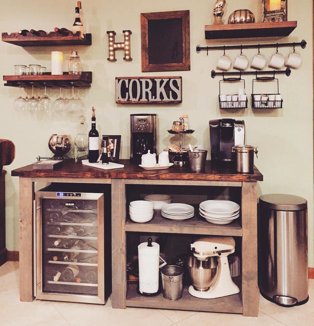 Home Coffee Bar Design Ideas: Custom Built Rustic Furniture And Home Decor