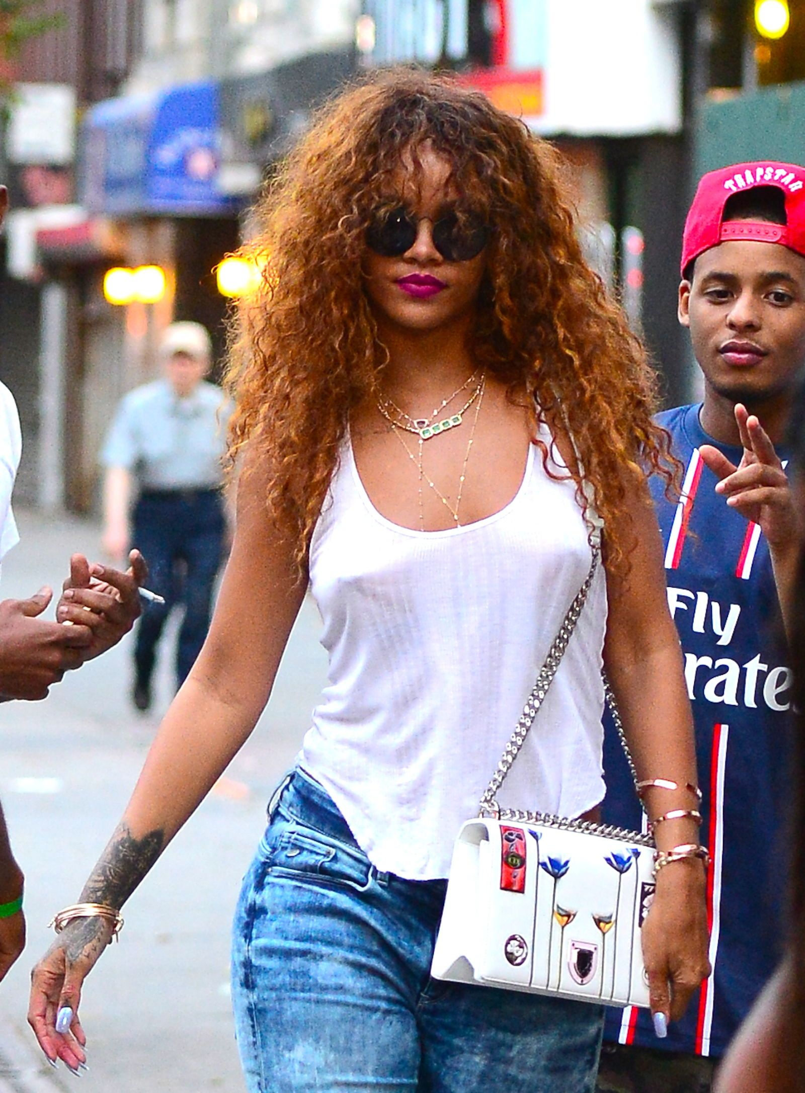 Curly Hairstyles That Are All About That Texture Curly Hair Styles Rihanna Curly Hair Thick Hair Styles