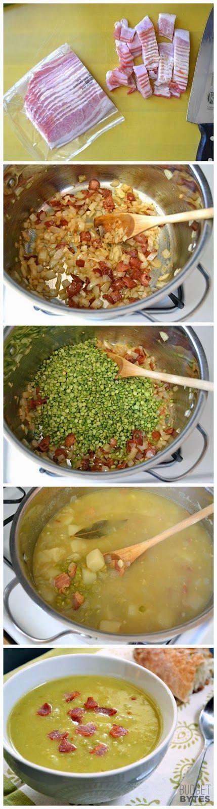 Split Pea, Bacon & Potato Soup