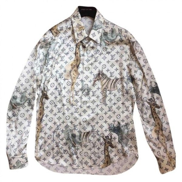 Pre Owned Louis Vuitton Silk Shirt 2 483 Liked On Polyvore Featuring Men S Fashion Clothing Shirts Casual