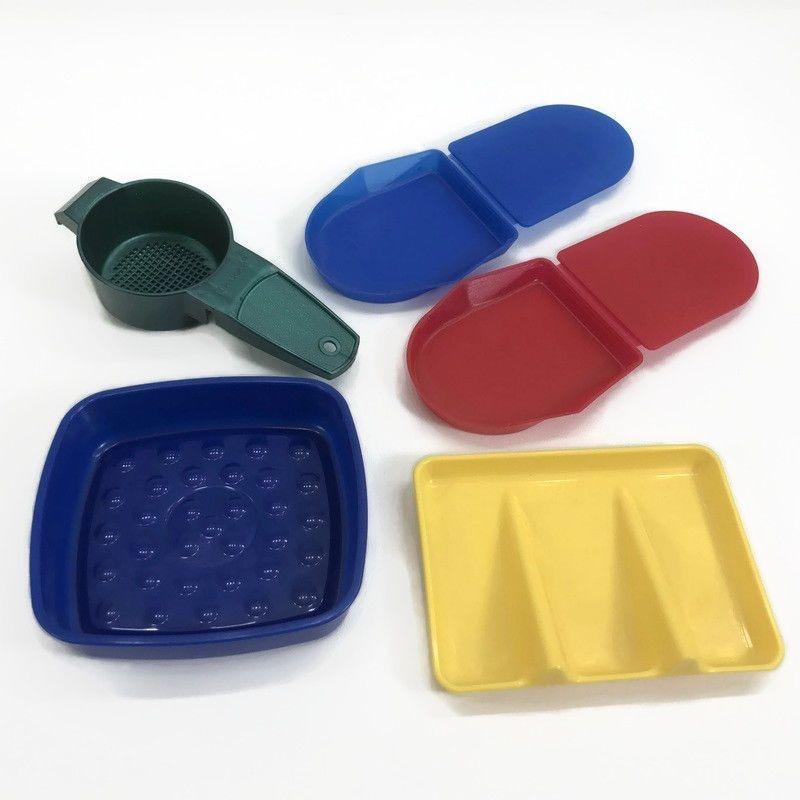Vtg Tupperware Gadgets Soap Dish Sponge Holder Tea Time Helper