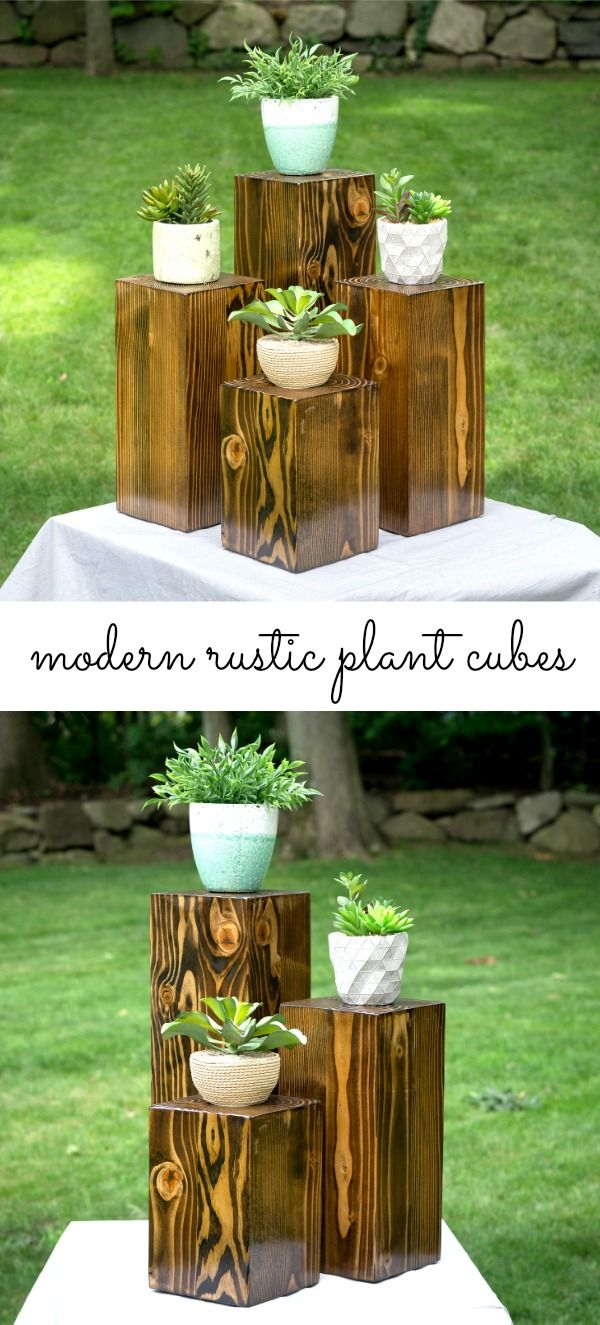 Modern rustic plant stands. Available in 3 piece plant ... on Amazing Plant Stand Ideas  id=60208