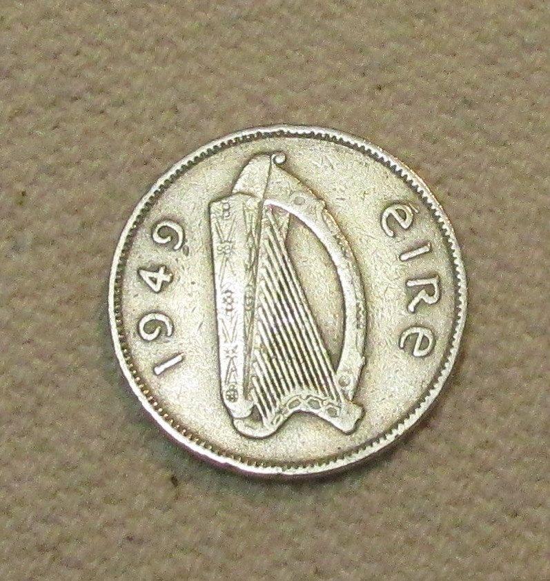 Ireland sixpence, 1949, Irish Wedding 6 pence, world coin, six pence, something old, good luck nuptials gift, lucky by LastingWoods on Etsy