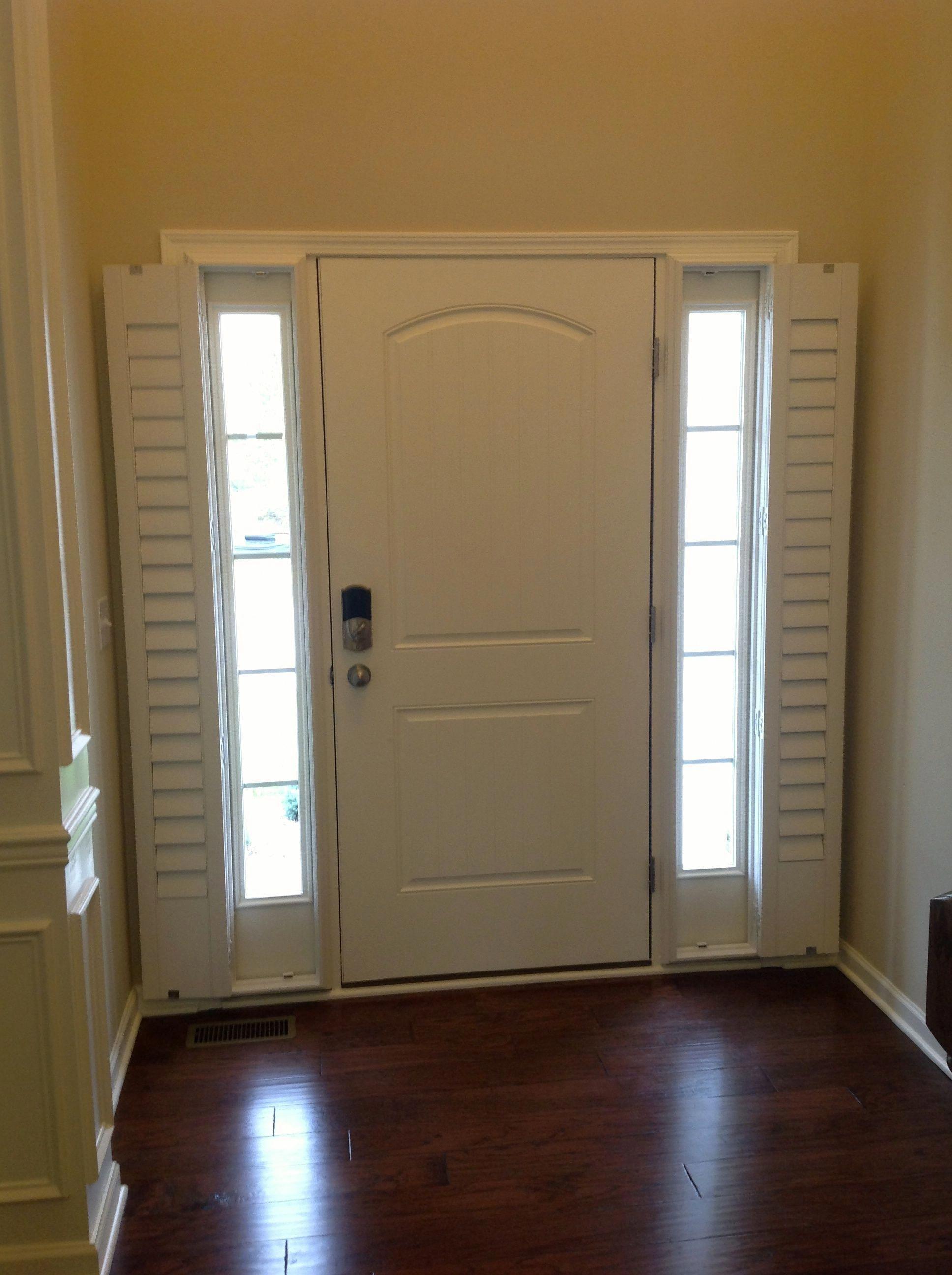 Entry Door Sidelight Window Shutters Sunburst Shutters